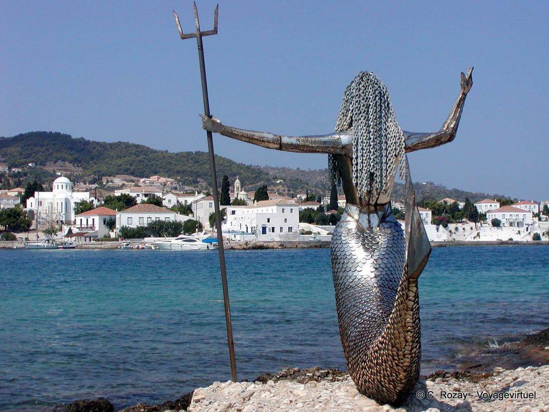 carrousel 10 spetses Mermaid statue